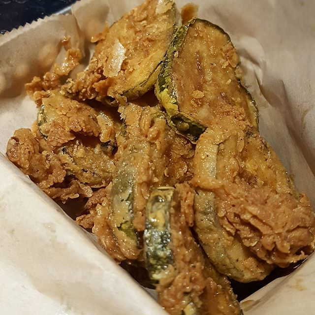 Fried pickles, that's my first try..